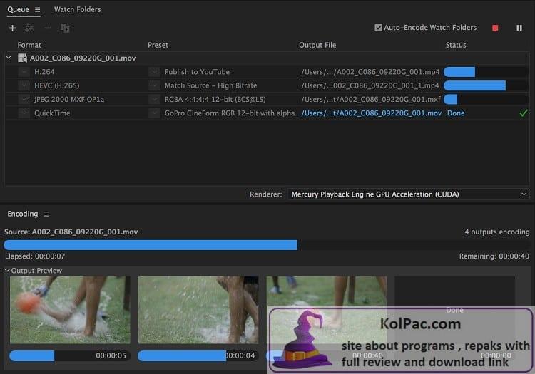 Adobe Media Encoder download