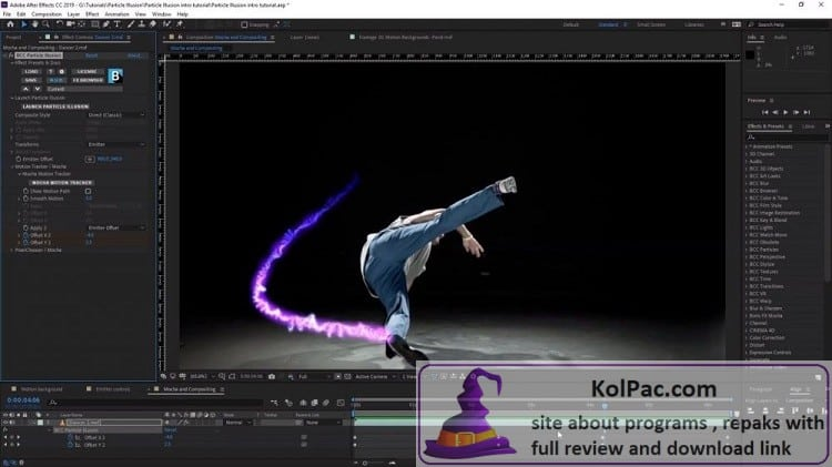 Adobe After Effects settings