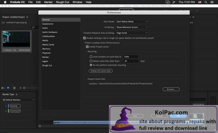 Adobe Prelude download