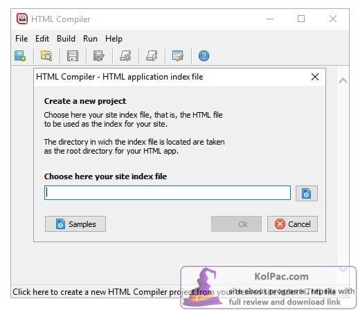 DecSoft HTML Compiler settings