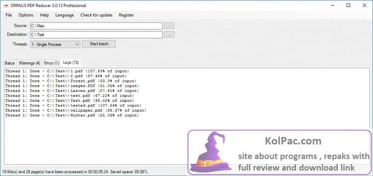 ORPALIS PDF Reducer download
