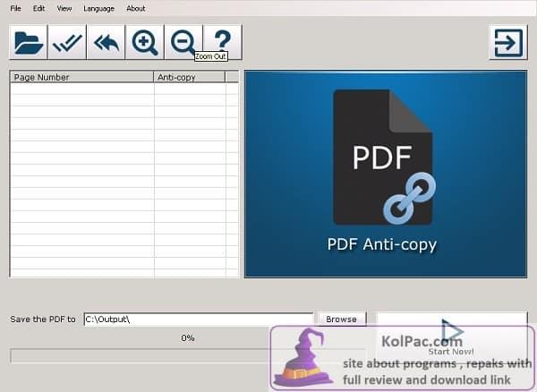 PDF Anti-Copy Pro settings